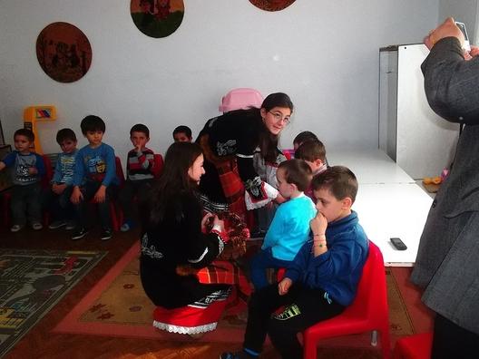 момент от съвместната работа с детската градина