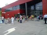 Малки велосипедисти показаха умения на импровизиран полигон пред Спортната зала