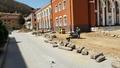 Кипи усилена строителна работа в центъра на Рудозем (галерия)