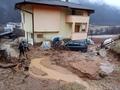 Множество свлачища, изнесени пътища и запушени водостоци след проливните дъждове (галерия)