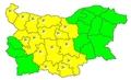 Обявиха жълт код за силен вятър в 15 области