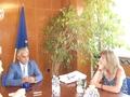 Заместник-областният управител Андриян Петров и аташето на САЩ в България Тами Палчиков обсъдиха идеи за сътрудничество в областта на културата и образованието